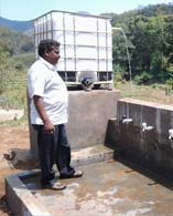 Village Water Supply using Hydram unit at Sesharayi Village